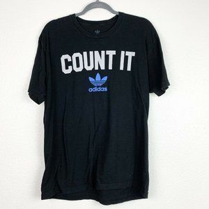 Adidas Large Black Athletic Casual Count It TShirt